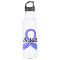 Faith Matters 5 Prostate Cancer Stainless Steel Water Bottle