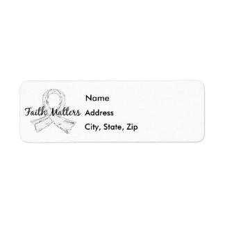 Faith Matters 5 Retinoblastoma Label