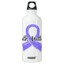 Faith Matters 5 Stomach Cancer Aluminum Water Bottle