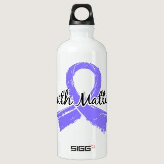 Faith Matters 5 Stomach Cancer Aluminum Water Bottle