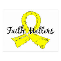 Faith Matters 5 Testicular Cancer Postcard