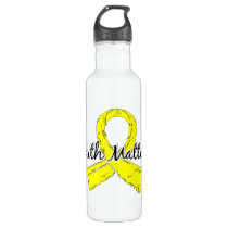 Faith Matters 5 Testicular Cancer Water Bottle