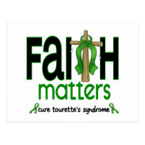 Faith Matters Cross Tourette's Syndrome Postcard