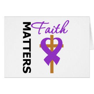 Faith Matters Fibromyalgia Greeting Card