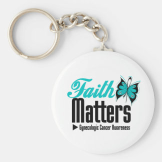 FAITH MATTERS Gynecologic Cancer Awareness Keychains