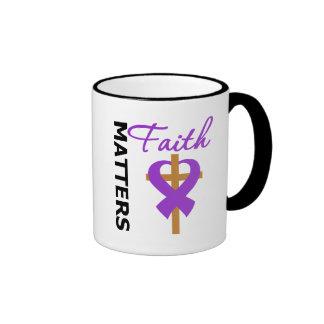 Faith Matters Leiomyosarcoma Ringer Coffee Mug