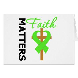 Faith Matters Lymphoma Greeting Card