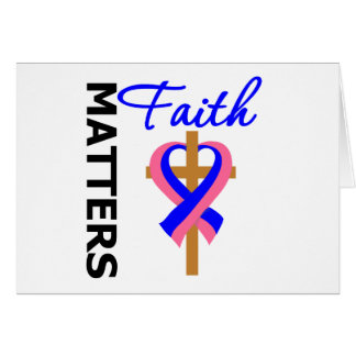 Faith Matters Male Breast Cancer Greeting Card