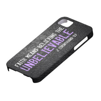 Faith means believing bible verse 2 Cor. 5:7 iPhone SE/5/5s Case