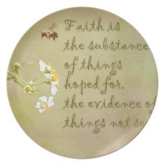 Faith Melamine Plate