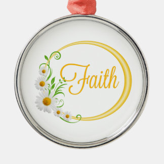 Faith Metal Ornament