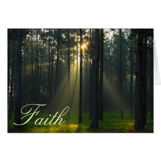 Faith - Morning sunlight through trees Card