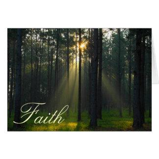 Faith - Morning sunlight through trees Greeting Card