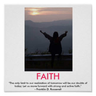 FAITH motivational poster
