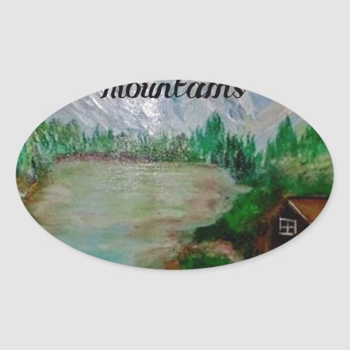 Faith moves Mountain Oval Sticker