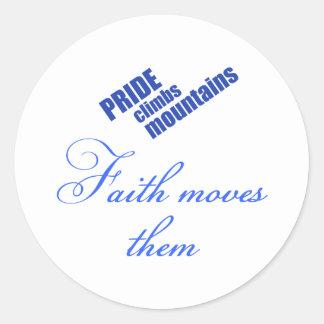 faith-moves-mountains Christian design Round Stickers