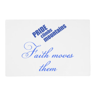 Faith Moves Mountains Placemat