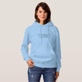 Faith Never Women's Hoodie w/Blue Cross