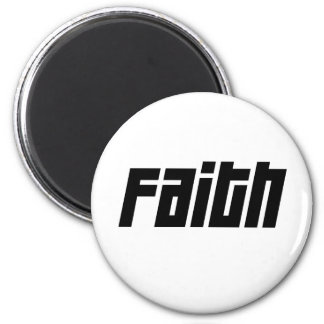 FAITH Noir 2 Inch Round Magnet