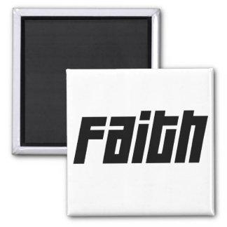FAITH Noir 2 Inch Square Magnet