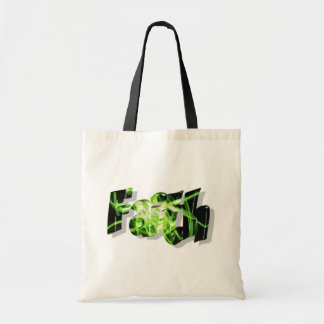 Faith Noir vert 3D Tote Bag