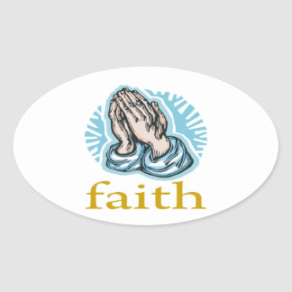 Faith Oval Sticker