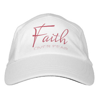Faith Over Fear Encouragement in Red Hat