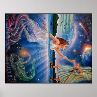 Faith over Fear Painting Poster