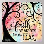 Faith over Fear Poster