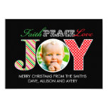 Faith, Peace, Love and Joy Photo Christmas Card