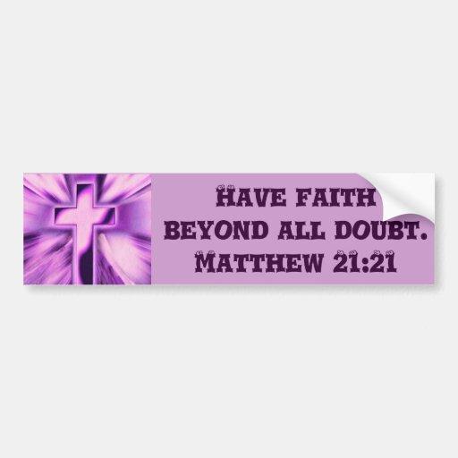 Faith_ Pegatina Para Auto