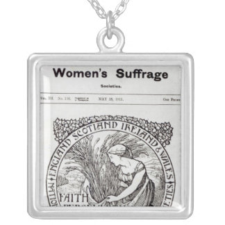 Faith, Perseverance, Patience, 1911 Silver Plated Necklace