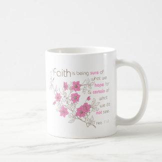 Faith (pink & brown) classic white coffee mug