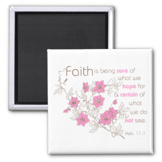 Faith (pink & brown) magnet