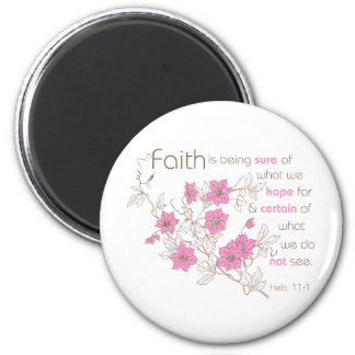 Faith (pink & brown) magnet