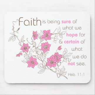 Faith (pink & brown) mouse pad