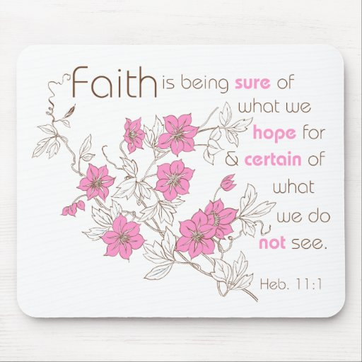Faith (pink & brown) mouse pads