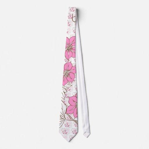Faith (pink & brown) tie