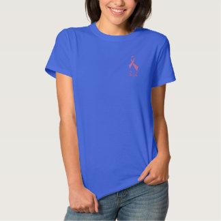 Faith Pink Ribbon Short Sleeve Embroidered Shirt