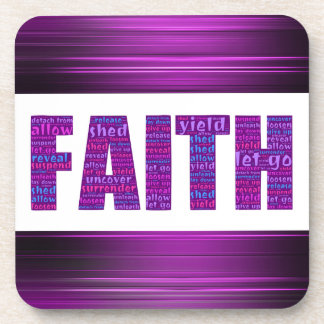 Faith plastic coaster