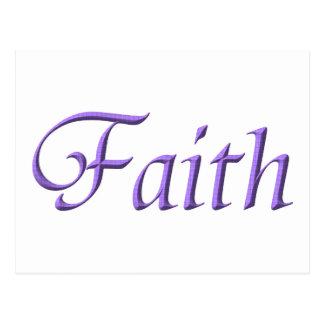 """""""Faith"""" Postcard"""