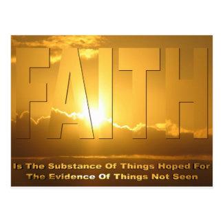 Faith Postcard