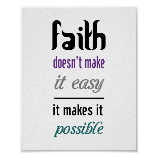 faith poster standard picture frame size zazzle