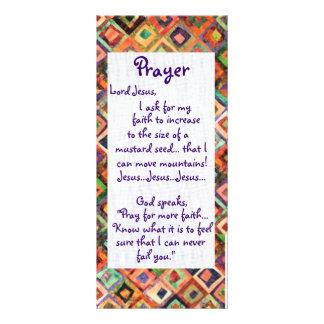 Faith Prayer Card Custom Rack Cards