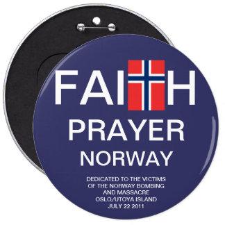 FAITH PRAYER NORWAY BUTTON