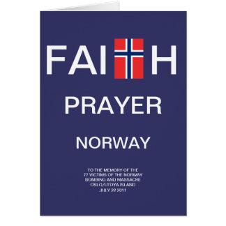 FAITH PRAYER NORWAY CARD