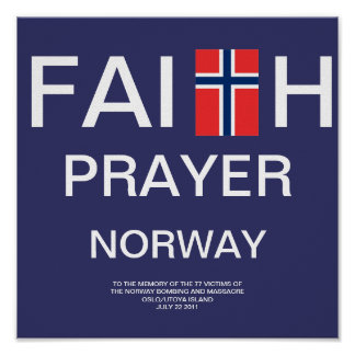 FAITH PRAYER NORWAY POSTER