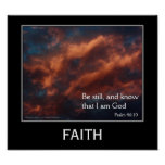Faith Psalm 46:10 Inspirational Motivational Poste Posters