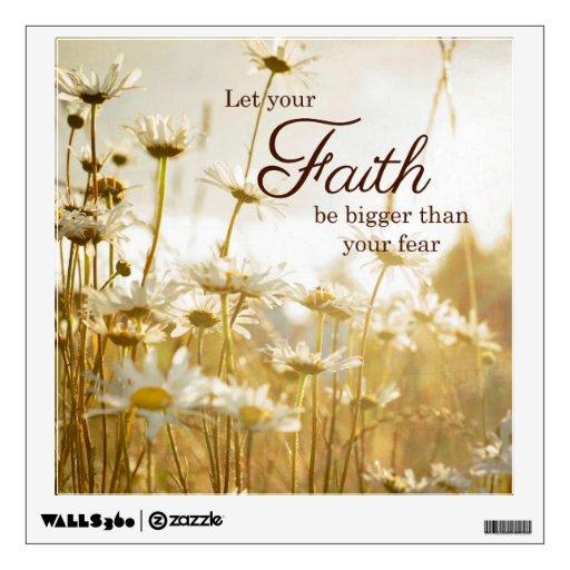 Faith quote nature decal wall decor zazzle for Faith decor