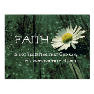 Faith Quote Postcard
